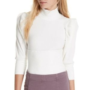 Free People Lala Mock Neck Top
